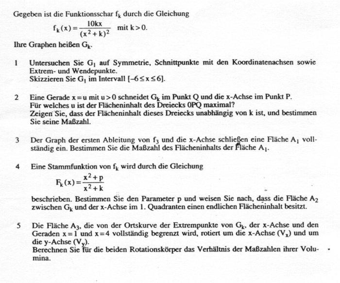 ZahlReich - Mathematik Hausaufgabenhilfe: Komplexaufgabe Funktionsschar